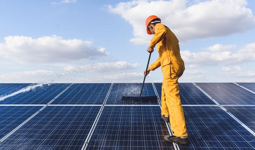 pulizia pannelli solari emmemme